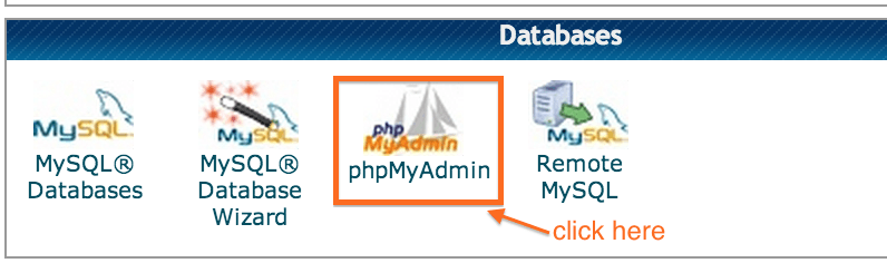 phpMyAdmin from cPanel - Crunchify Tips