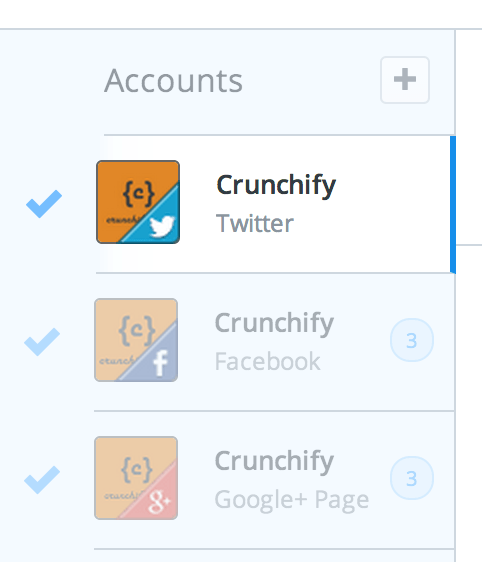 Add your Social media accounts to BufferApp