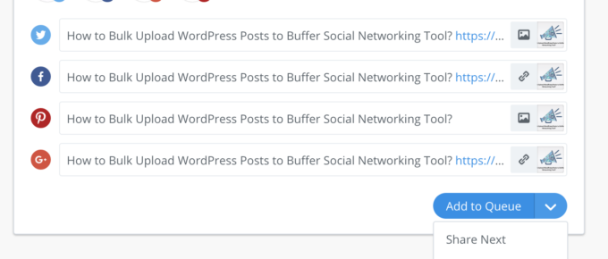 Buffer new Social Sharing Page Layout