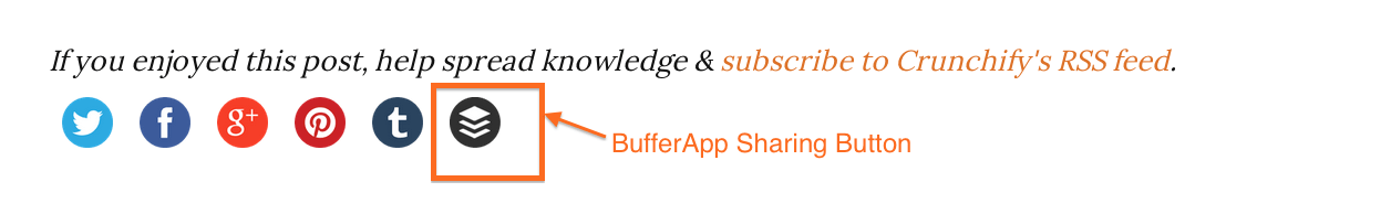 BufferApp Social Sharing Button