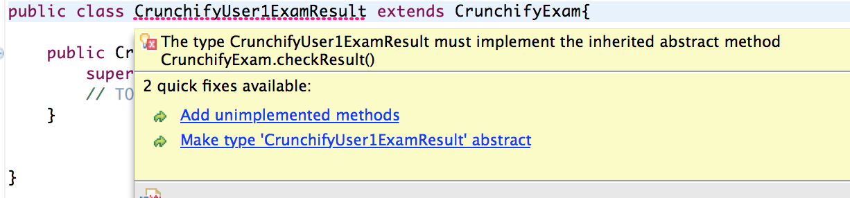 Implement Abstract Method - Crunchify Tutorial