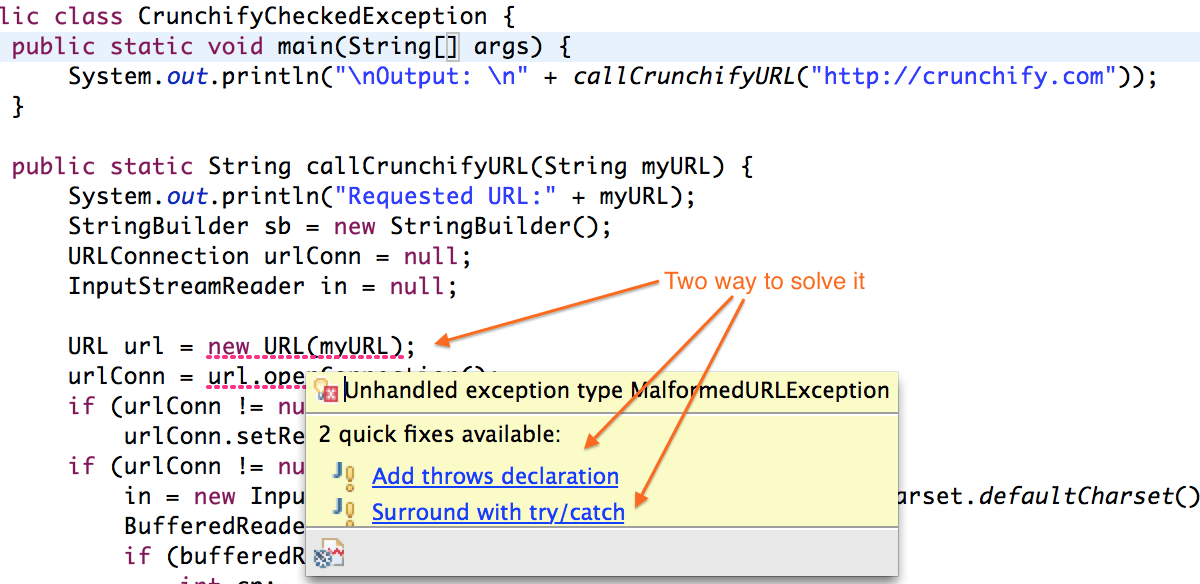 Better Understanding on Checked Vs. Unchecked Exceptions – How to Handle Exception Better Way in Java?