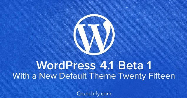 Crunchify - WordPress 4.1