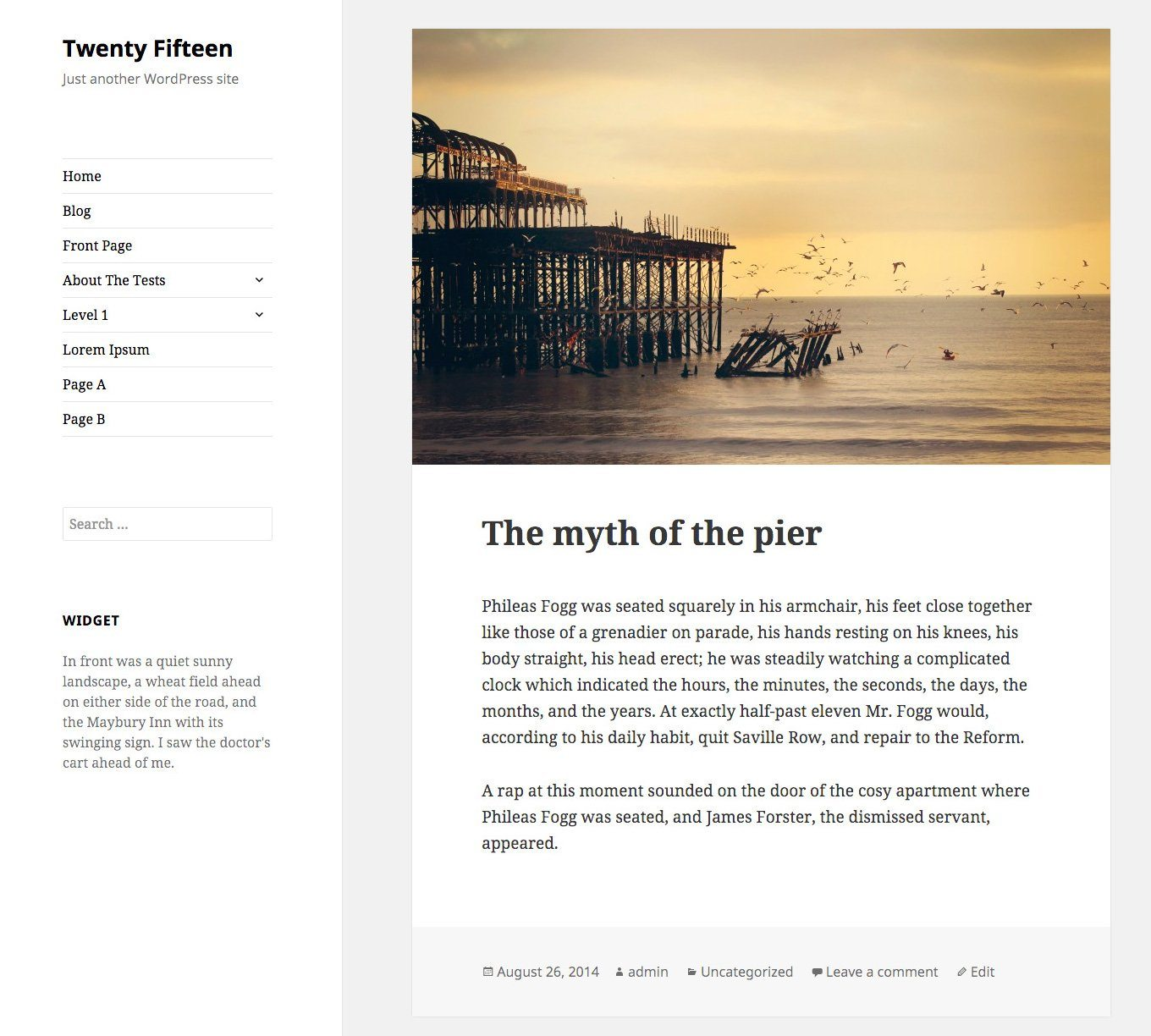 TwentyFifteen WordPress Theme