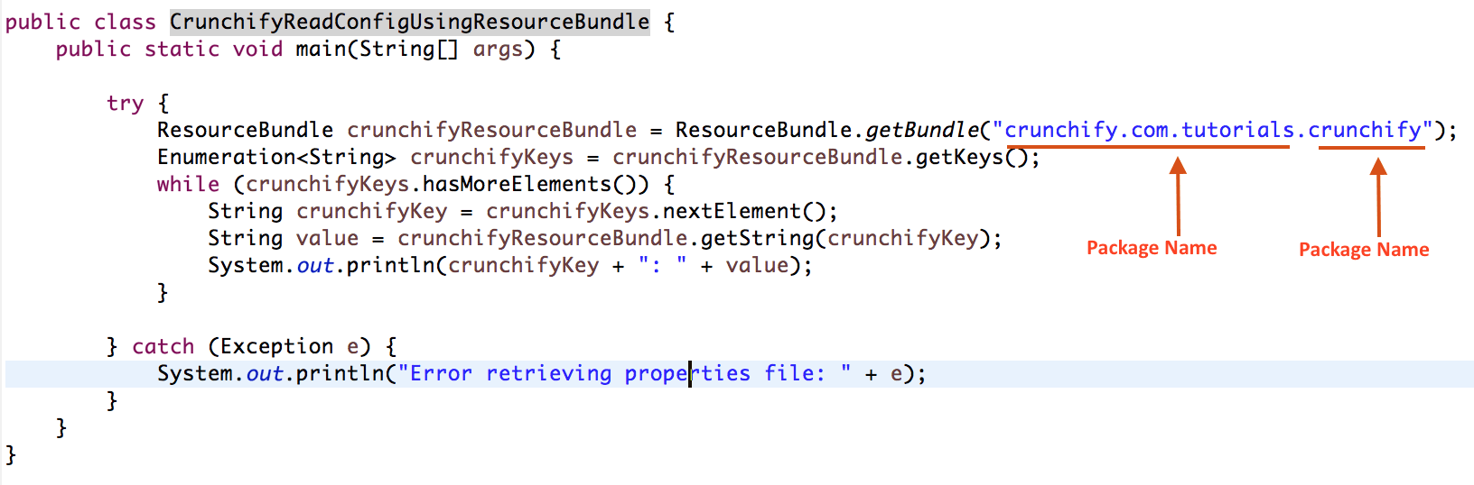 How to Use ResourceBundle getBundle to get Properties Value