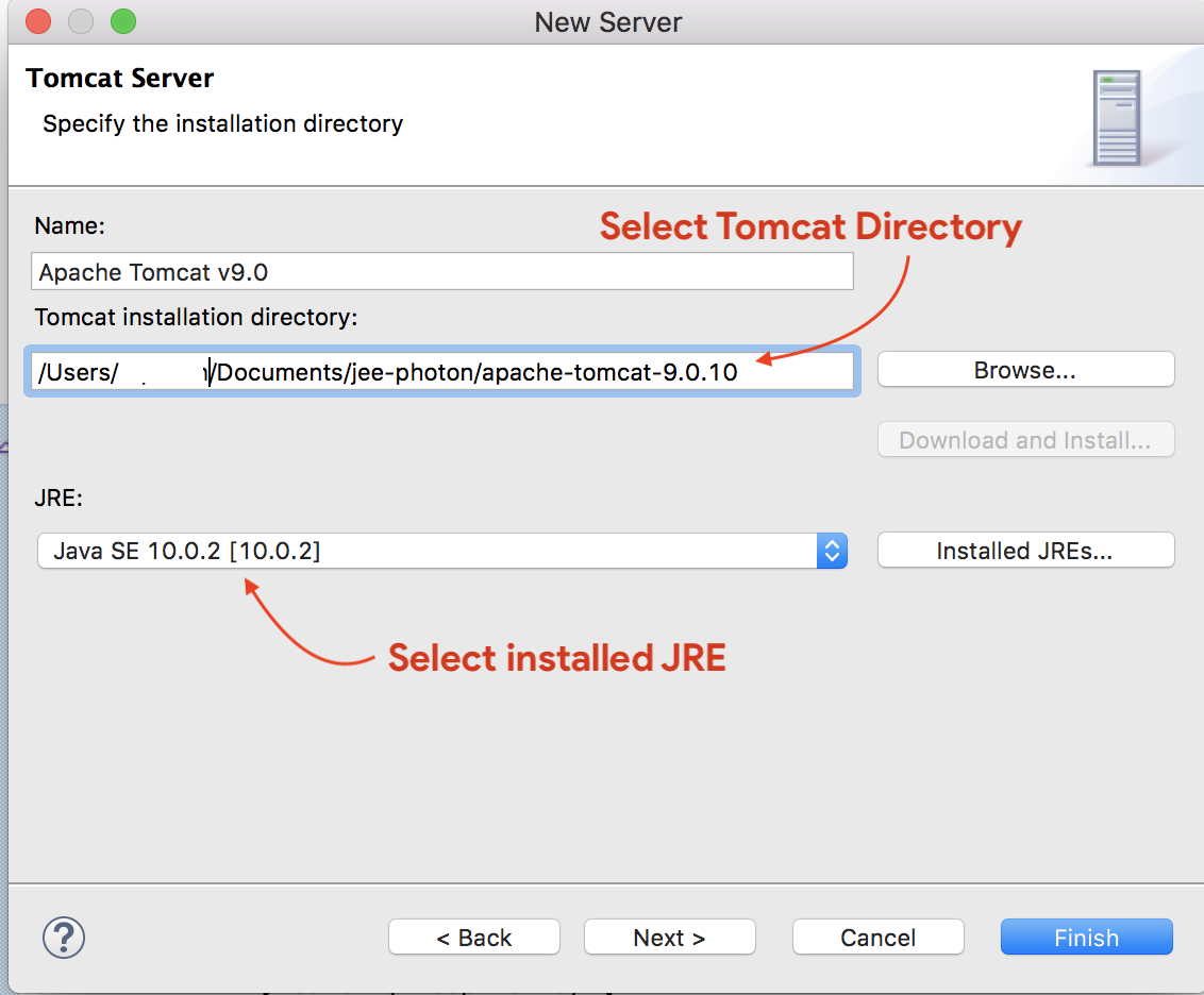 Add new Apache Tomcat Server in Eclipse