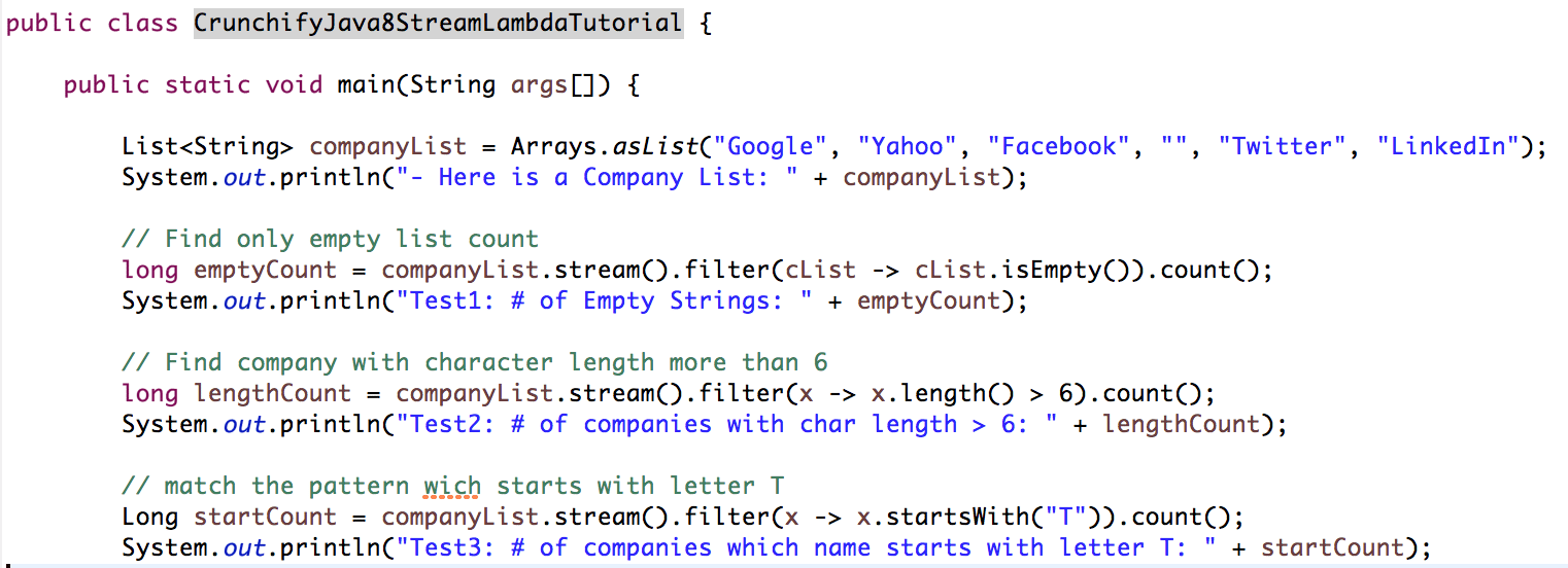 Java 8 Stream and Lambda Expression Tutorial by Crunchify
