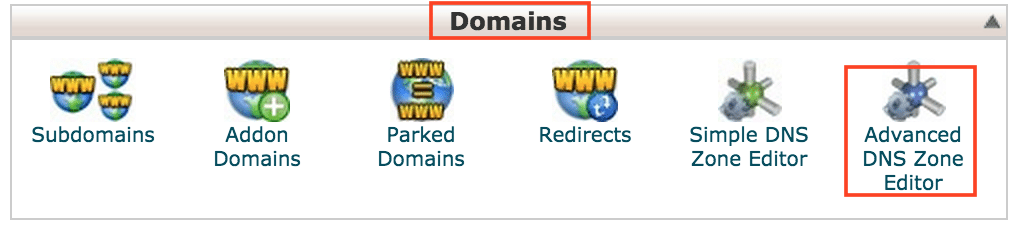 cPanel Domain and Advanced DNS Zone