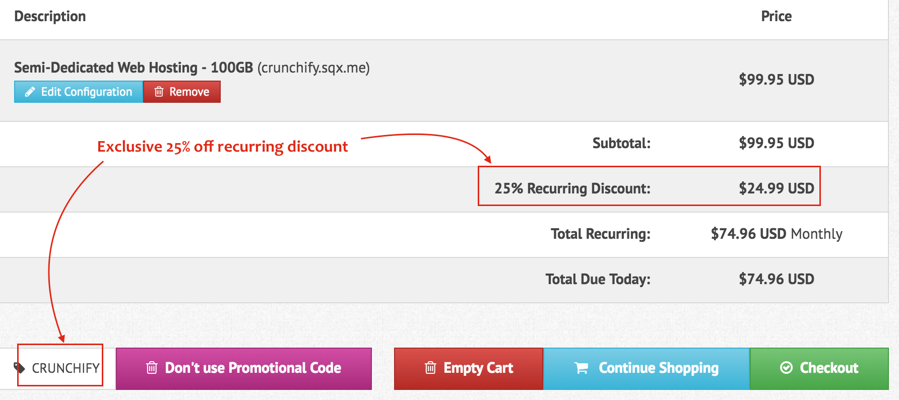 Crunchify and Squidix 25% off recurring - code-CRUNCHIFY