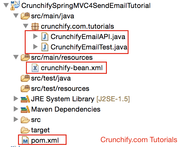 Spring MVC 4.1.x send email project structure
