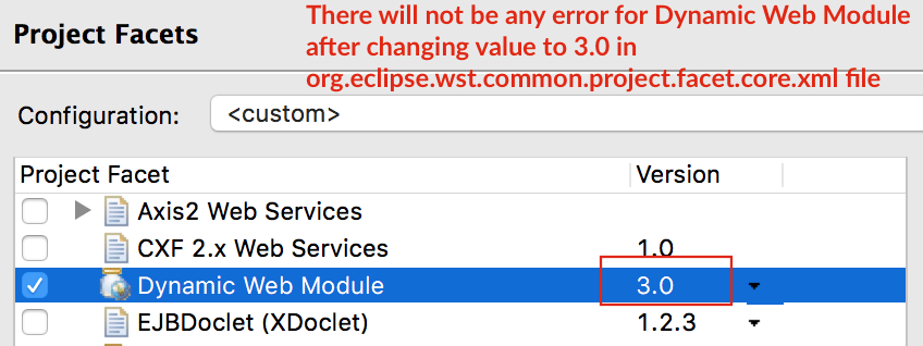 There will not be any error for Dynamic Web Module - Crunchify
