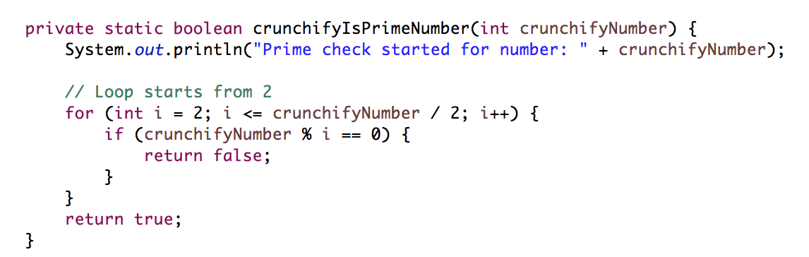 Check if Number is Prime or not in Java