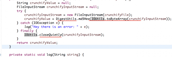 How to get MD5 checksum for any given file in Java? Use commons-codec's DigestUtils.md5Hex
