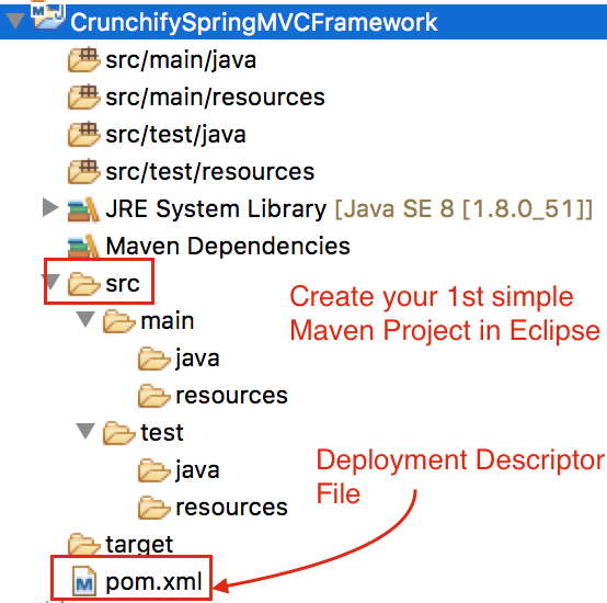 Create Simple Maven Project in Eclipse Crunchify-