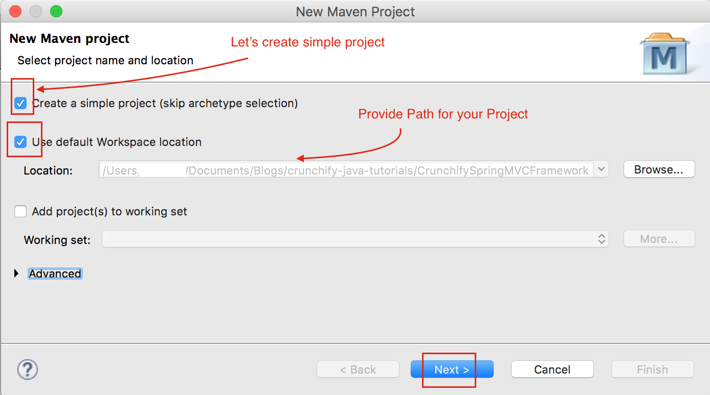 Create a Simple Maven Project in Eclipse