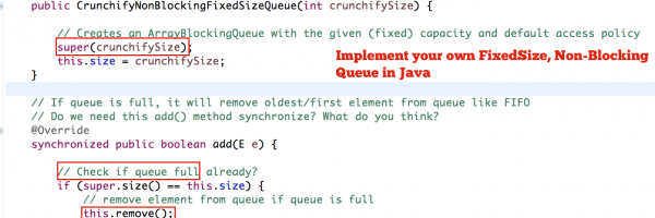 How to Create Your Own Non-Blocking, Fixed Size Queue in Java? Same as EvictingQueue