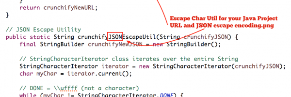 Escape Character Utility for URL and JSON data – Free to use in your Java Project