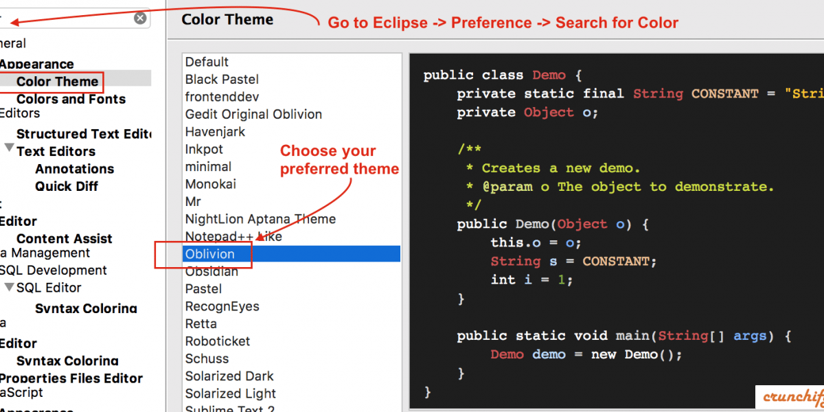 Have you tried changing Eclipse Color Theme? Install Eclipse Dark and Other Themes
