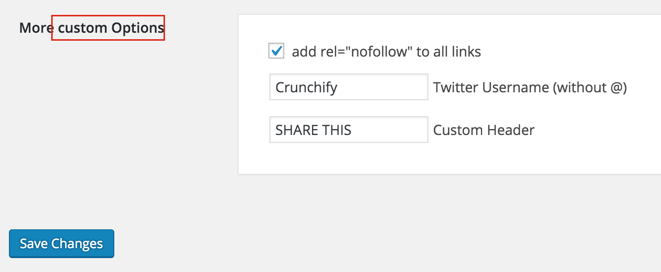 Crunchify Social Sharing Options