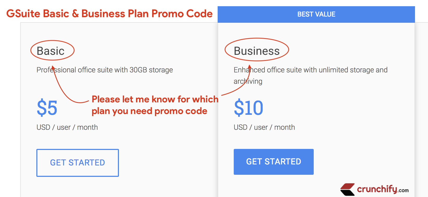GSuite Basic an Business Plan Promo Code