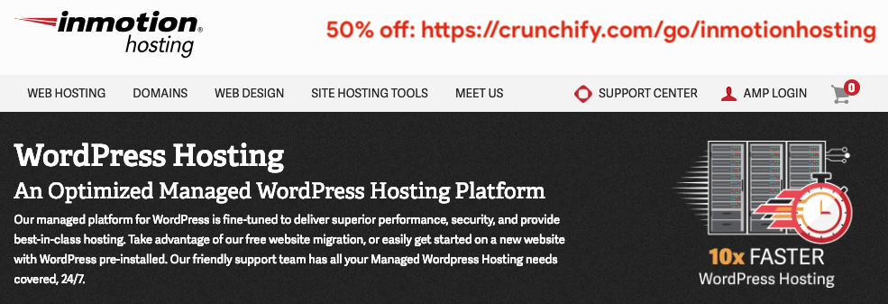 InMotion WordPress Hosting deals by Crunchify
