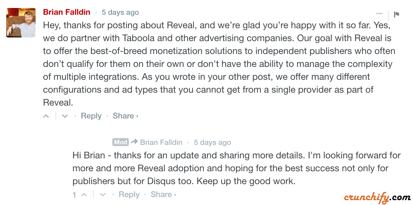 Update from Disqus REVEAL team on above comment