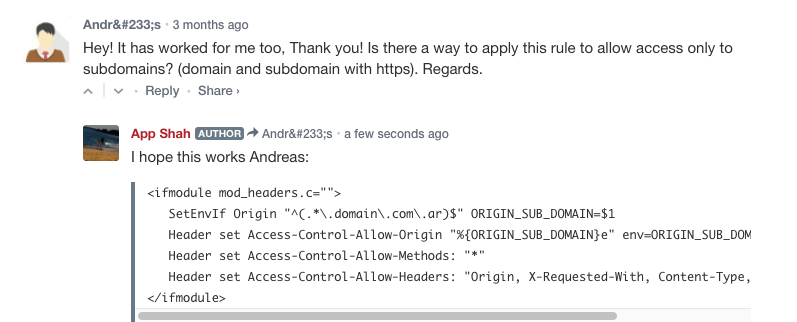 Access-Control-Allow-Origin on Subdomains