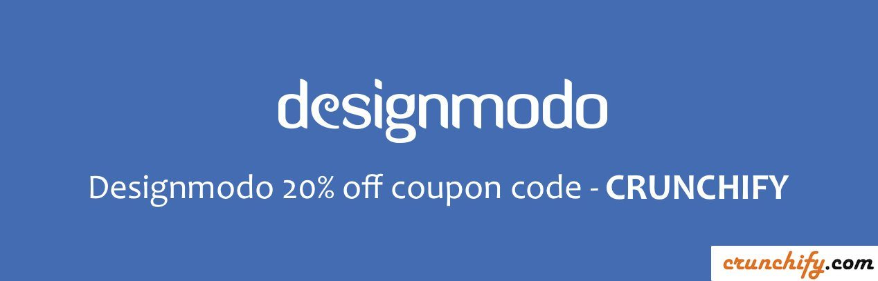 Designmodo 20% Off Coupon Code-CRUNCHIFY