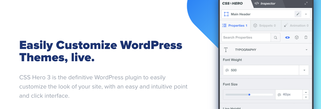 Easily Customize WordPress Themes Live by CCSHero