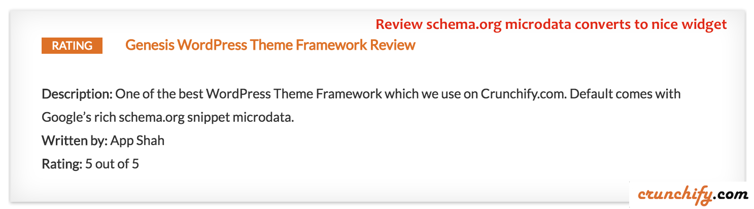 Genesis Framework Review by Crunchify - best theme for schema.org microdata
