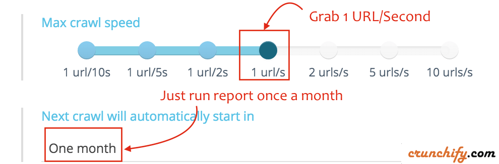 Run OnCrawl Report on Crunchify.com