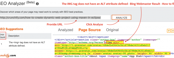 Missing WordPress Gravatar ALT tag value? How to fix – IMG tag does not have an ALT attribute defined – SEO Error reported by Bing Webmaster Tool