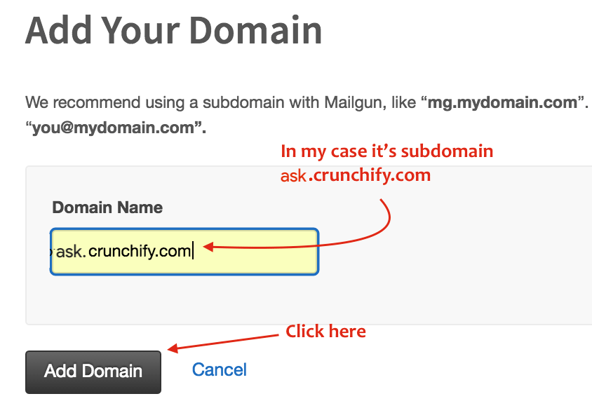 ask.crunchify.com - Add your domain to Mailgun Admin Panel Crunchify Forums