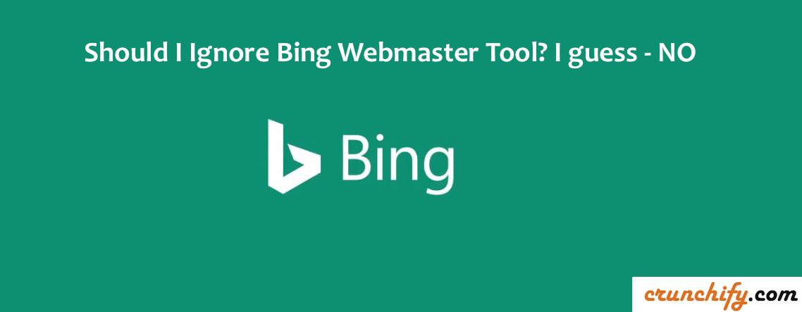 Bing Webmaster Tools - Crunchify Tips