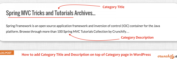 How to Automatically Display titles and description on Category Archives – Fix h1 tag missing error – WordPress Webmaster Tips