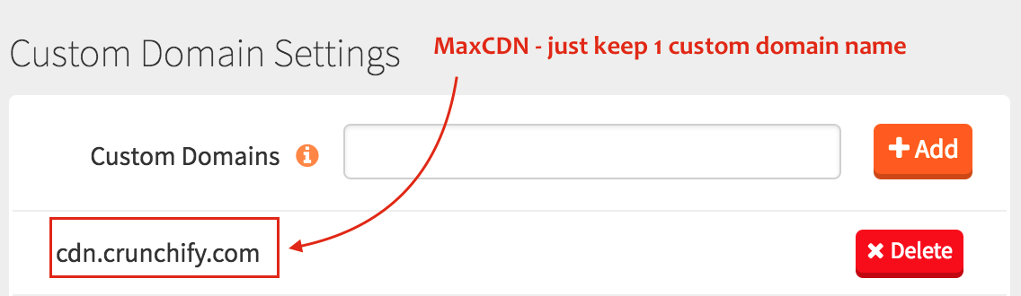 MaxCDN - just keep 1 custom domain name - Crunchify Tips