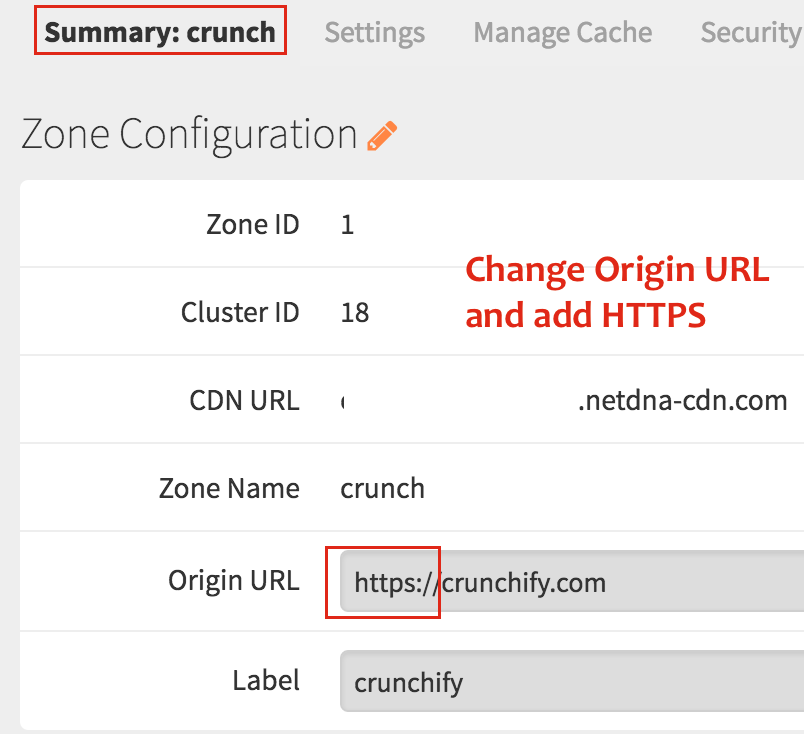 Change Origin URL and add HTTPS - Crunchify