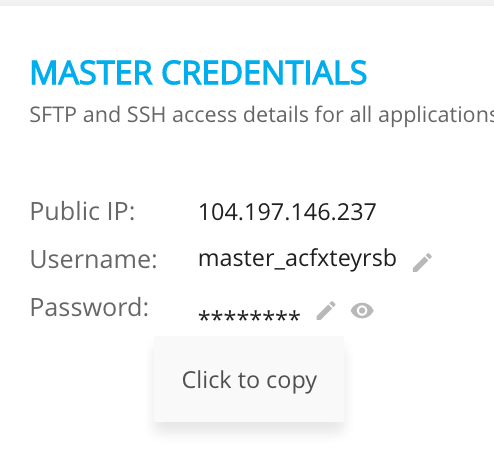 Cloudways Master Credential Tab - Crunchify Tips1