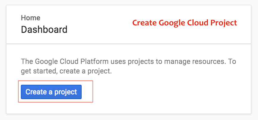Create Google Cloud Project - Crunchify Tips