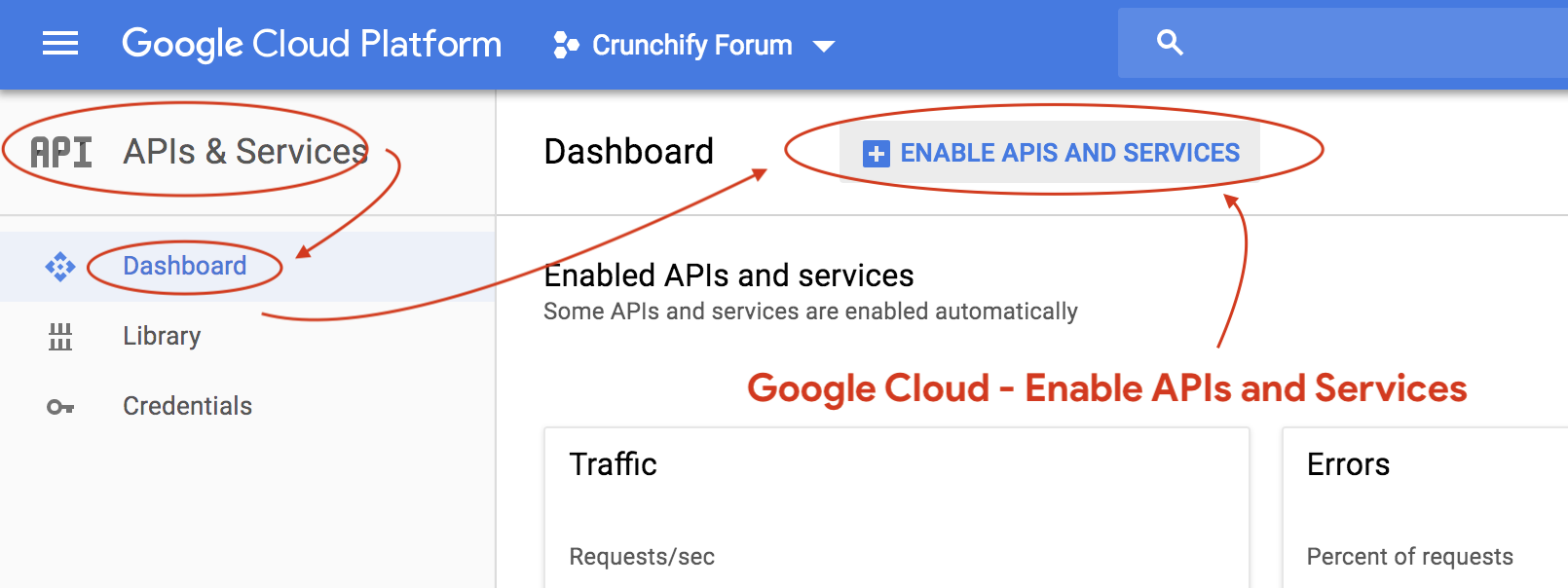 Google Cloud - Enable APIs and Services