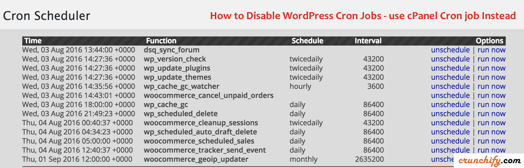 How to Disable WordPress Cron Jobs - use cPanel Cron job instead