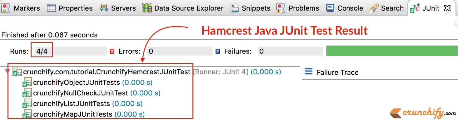 hamcrest-java-junit-test-result
