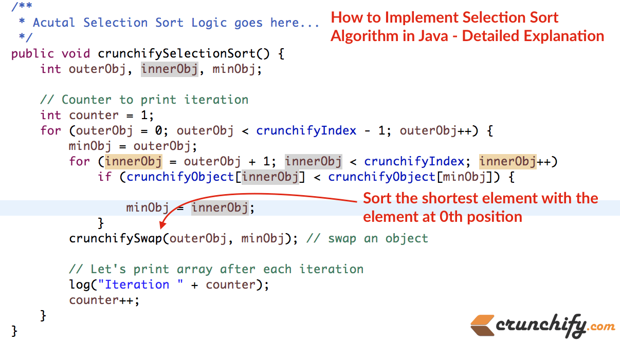 Insertion sort in C