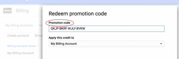 How to redeem Google Cloud Platform (GCP) Credit in Admin Console?