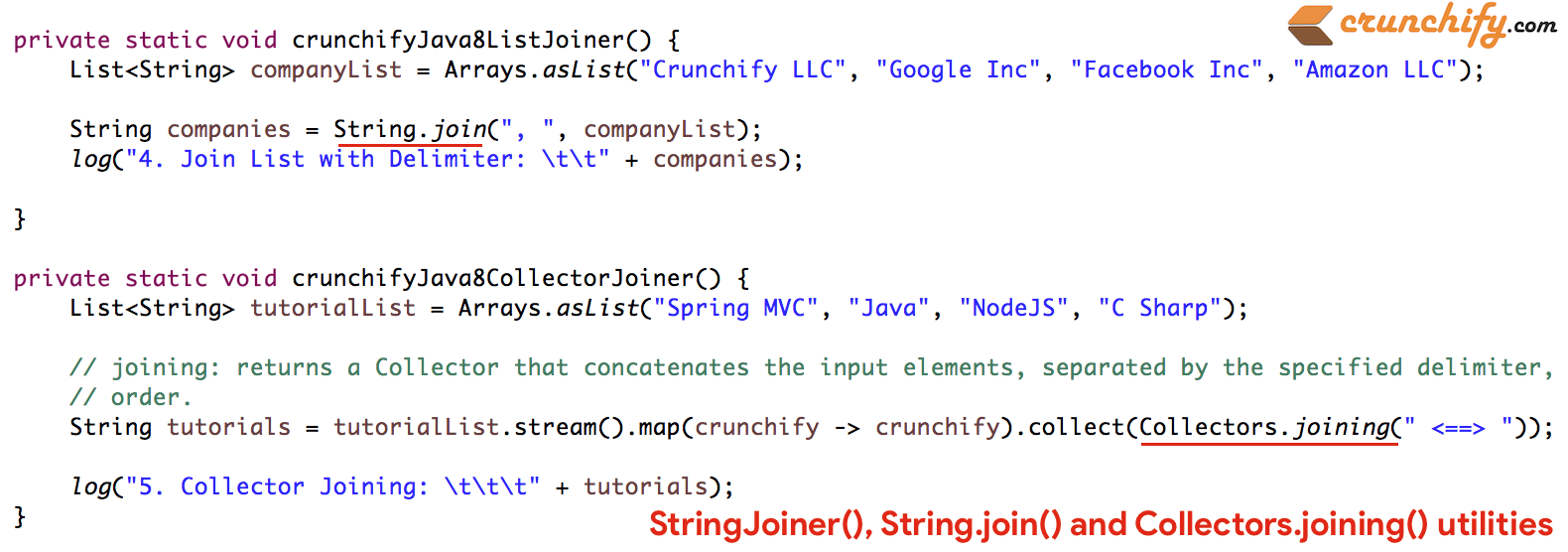 Java8 stringjoiner stringin and collectorsining java8 stringjoiner stringin and collectorsining tutorial with all details 5 different ways baditri Images