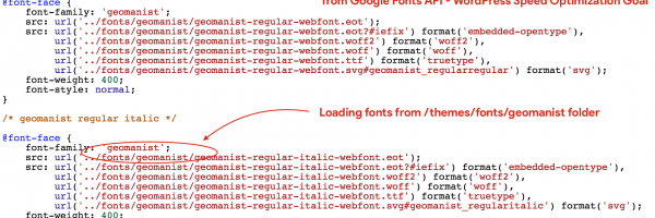 How to Load WordPress Fonts locally rather making call to Google's fonts.gstatic.com API or TypeKit API?