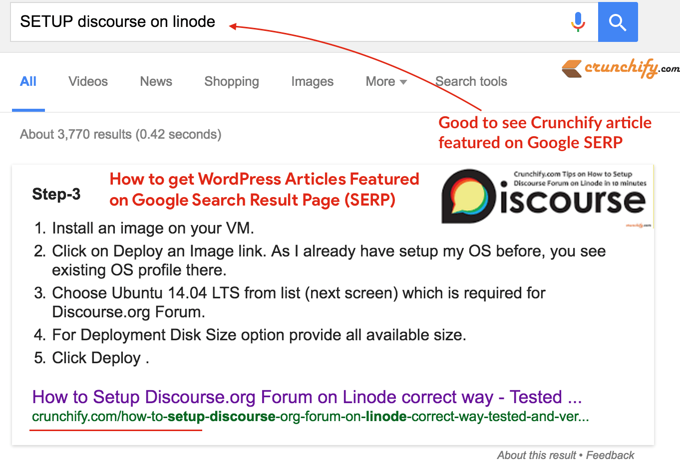 How to get your WordPress Article Featured on Google Search