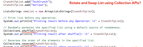 In Java8 How to Shuffle, Reverse, Copy, Rotate and Swap List using Collection APIs?