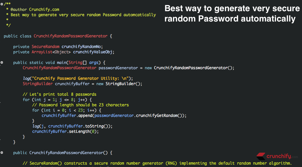 In Java How to Generate Strong Random Password - SecureRandom