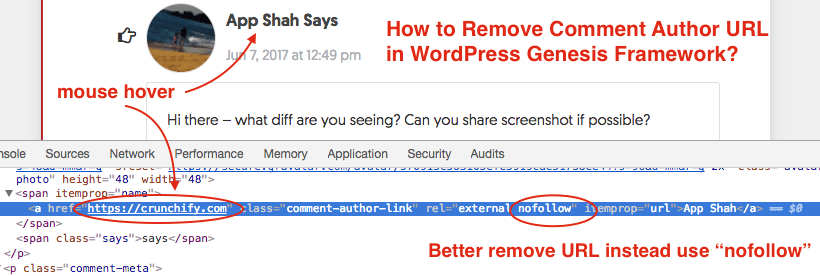 How to Remove Comment Author URL for all Existing Comments in WordPress Genesis Framework?